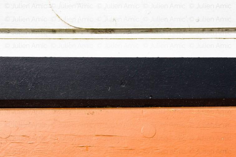Trois couleurs pour cette coque ancienne.