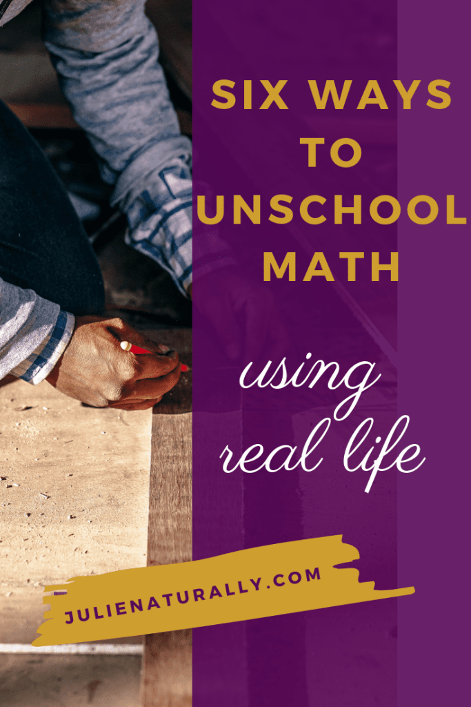 carpenter measuring and cutting wood as one way to unschool math using real life