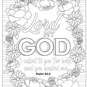 Bible Psalms Adult Coloring Book