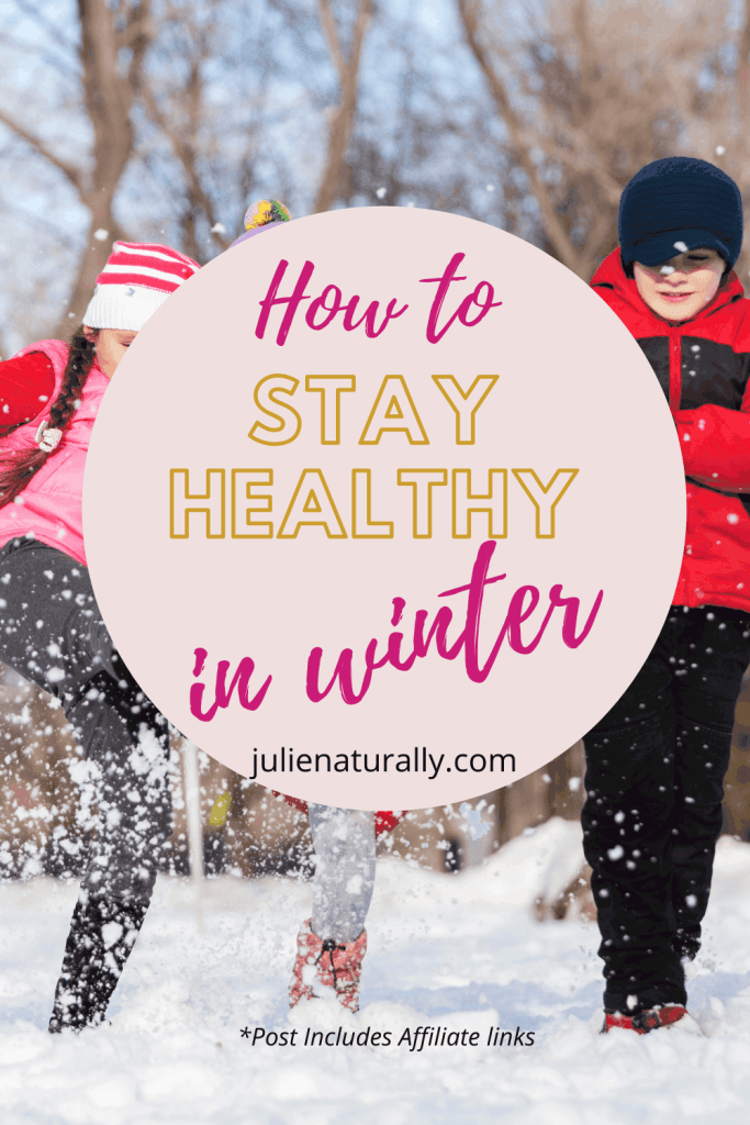 kids getting outside in the sun and snow is one way for how to stay healthy in winter