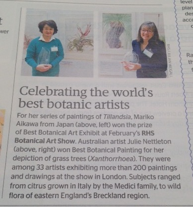 Celebrating the world's best botanic artists. Copyright RHS.