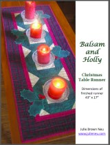 Julie Neu Balsam and Holly Christmas table runner PDF pattern