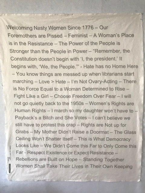Women's Words fabric by Julie Brown Neu