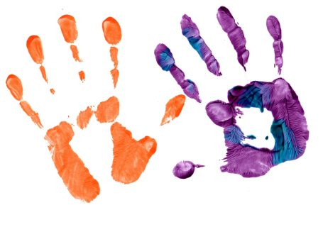 Creative Play handprints