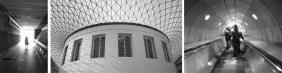 Underground walkway, London | British Museum, London | Waterloo Station, London