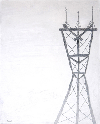 Wires 13 'Tower' | 16x20 | Oil on Canvas | Mar '06 | SOLD