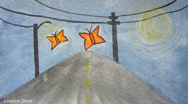 """Travel Companions   7"""" x 4""""   watercolor on paper"""
