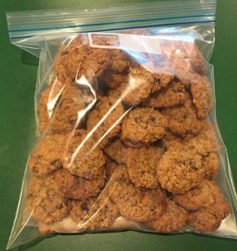 cookies in bread bag