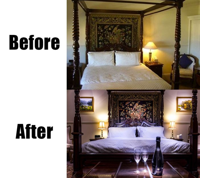 Real estate photography before and after-bed and breakfast in Fremantle English suite