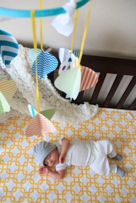 Indoor baby photography