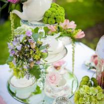 Tea cups or High tea birthday parties .