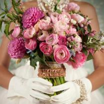 Las Vegas Vintage Glam wedding bouquet