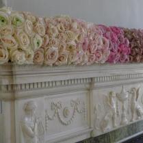 Lush,lavish las Vegas fireplace mantel flower garland .