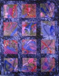 I Felt Purple Fiber Art by Julie R. Filatoff