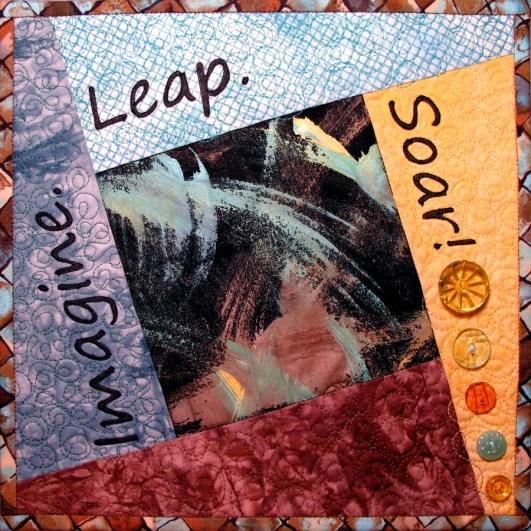 Imagine. Leap. Soar! Fiber Art by Julie R. Filatoff