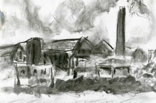 Mill sketch in Charcoal