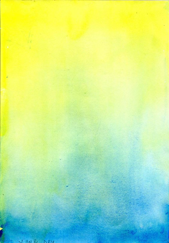 yellow and blue wash
