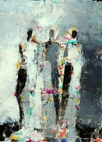 Julie Schumer Abstract Figures Number 32