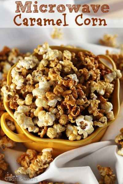 Microwave Caramel Corn ~ Quick and Easy Way to Satisfy Your Caramel Corn Craving!
