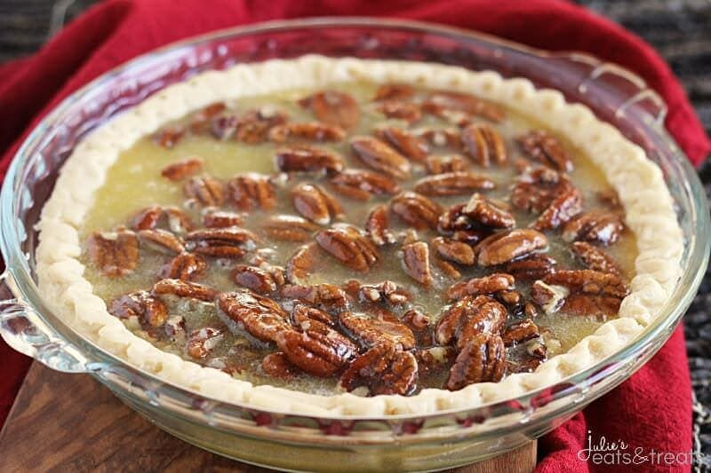 Pecan Pie ~ A Traditional, Classic Pie Loaded with Pecans! Sometimes you just can't beat the classic!