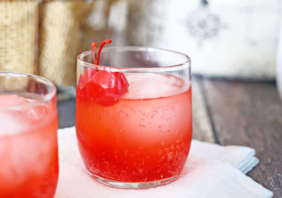 Cherry Bomb Mocktails Recipe in glasses