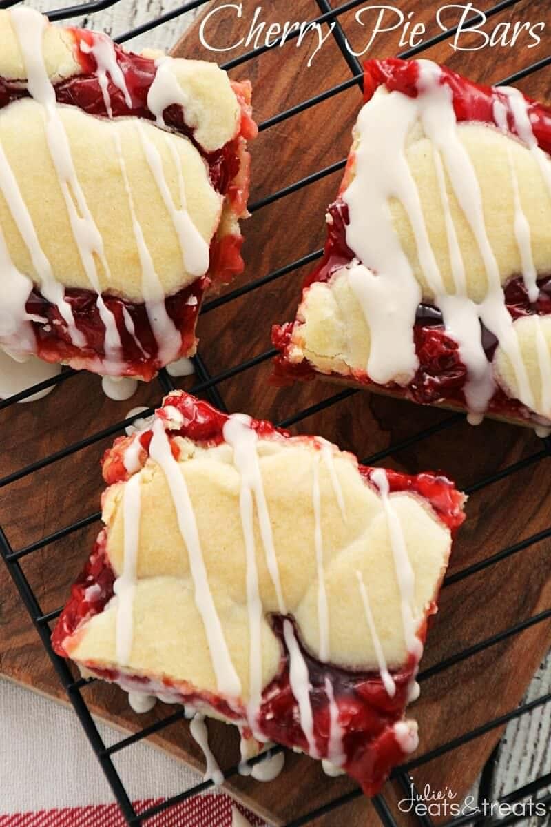 Cherry Pie Bars Julie S Eats Amp Treats