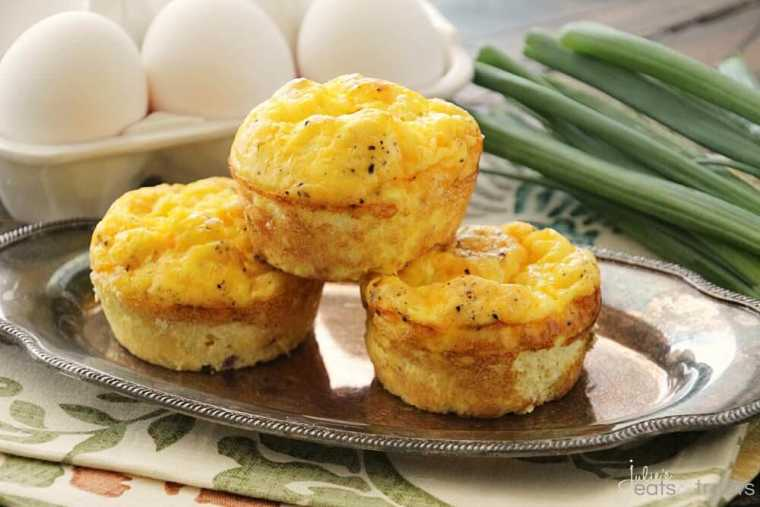 Breakfast Egg Muffins ~ Quick, Easy and Delicious Breakfast or Snack! Fluffy Egg Muffins with Ham & Cheese!