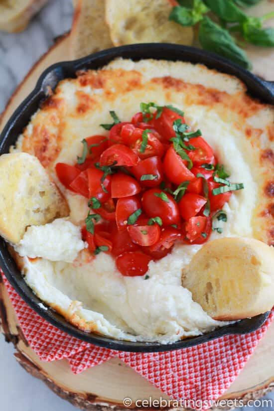 Cheesy-Tomato-Basil-Dip-Celebrating-Sweets