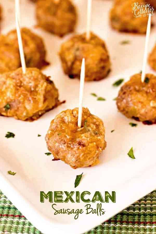 Mexican Sausage Balls Recipe - Julie's Eats & Treats