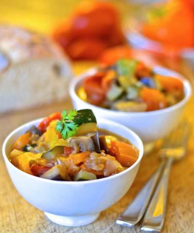 50 healthy dinner recipes in 30 minutes julies eats treats quick and easy ratatouille a virtual vegan forumfinder Choice Image