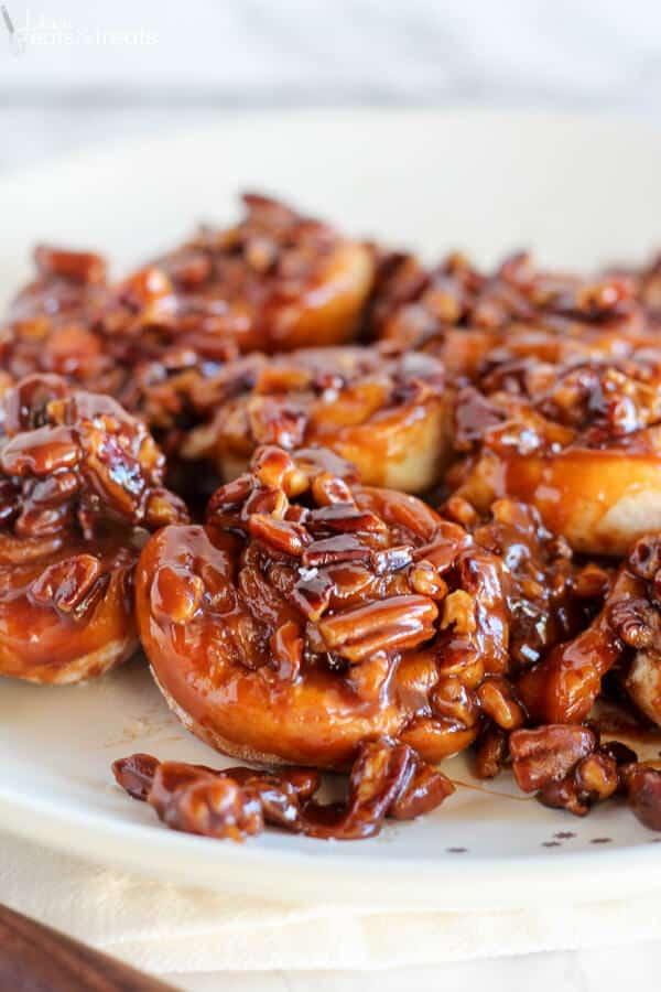 Easy 30 Minute Caramel Pecan Sticky Buns Recipe - Julie's