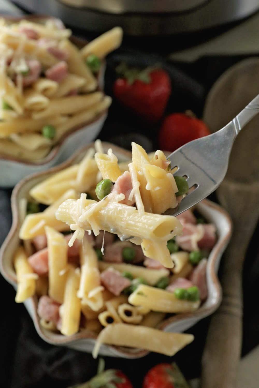instant pot pressure cooker ham  penne pasta  julie's