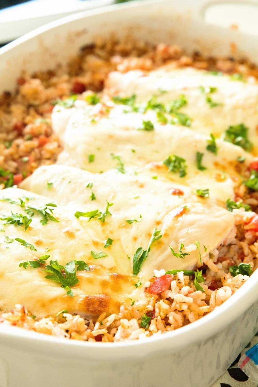 Italian Cheesy Chicken And Rice Casserole Recipe