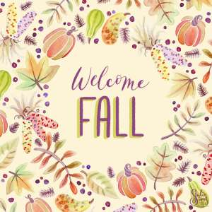 Watercolor welcome Fall