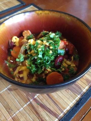 Chili with Garnish