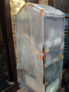 Bubblewrap Mini Greenhouse