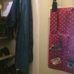Wall tidy hanging on door.