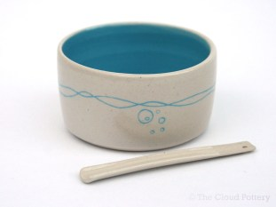 Sea wave salt and spoon