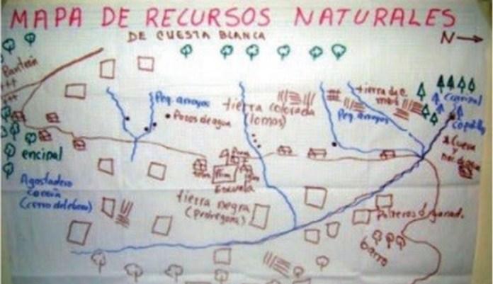 Mapa de recursos naturales