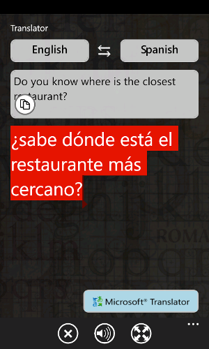 Windows Phone 7 Translator Copy/Paste