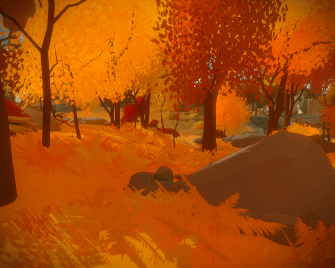 Bosque naranja en The Witness