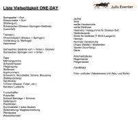 Liste für One-Day Vielseitigkeit
