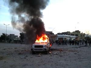 """16. Februar 2011: erster """"friedlicher"""" Protest der Opposition in Bayda / Libyen (wikipedia)"""