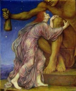 die Vergötterung Mammons (Evelyn de Morgan, 1909)
