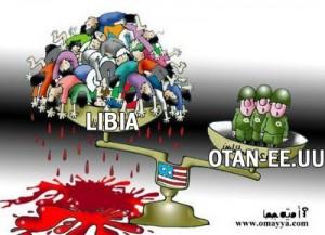 Libia-golpeada po-EEUU