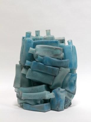 Freezer, 2017, 40 x 30 x 20 cm, glass, glass paint, sandblasted