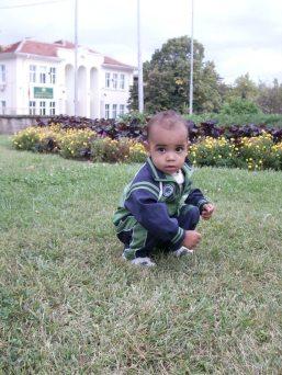My son in September