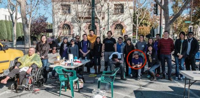 Homeless Outreach team at San Jose, CA (St. James Park - Dec. 3, 2016)