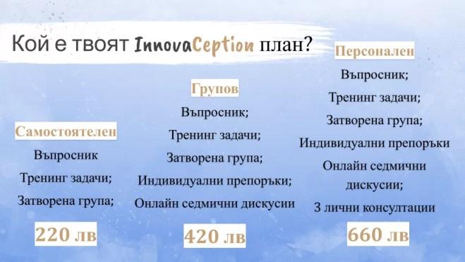 InnovaCeption тренинг план