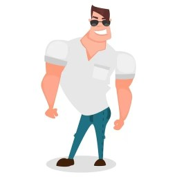Фалшив идеал мъж с мускули